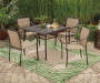 "Fairmont Painted Glass Patio Dining Table, (40"")"