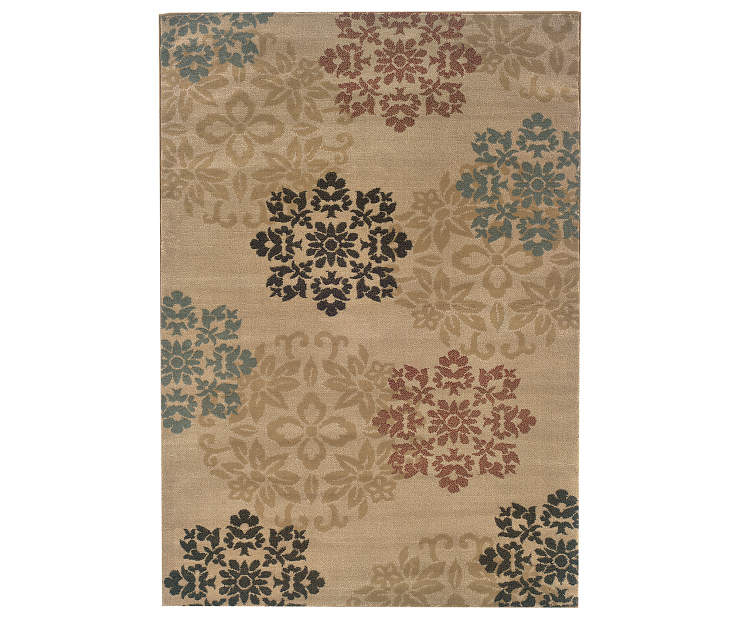 Fairview Gold Area Rug 7 Feet 10 Inches by 10 Feet Overhead View Silo Image