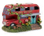 Fairy Garden Fairy Tale Café Bus Light Up Solar Statuary 9 inches Silo