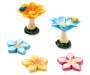 Fairy Garden Flower Bird Bath and Stepping Stone Collection 5 Piece silo top view