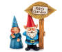 Fairy Garden Gnome Couple with Sign 2 Piece Set silo front