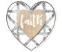 Faith Metal and Wood Heart Wall Decor silo front