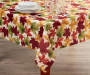 Fall Leaves Fabric Tablecloth 60 inch x 102 inch lifestyle
