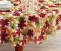Fall Leaves Round Fabric Tablecloth 60 inch lifestyle