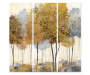 Fall Trees Wall Art Canvas 3 Piece Set silo front