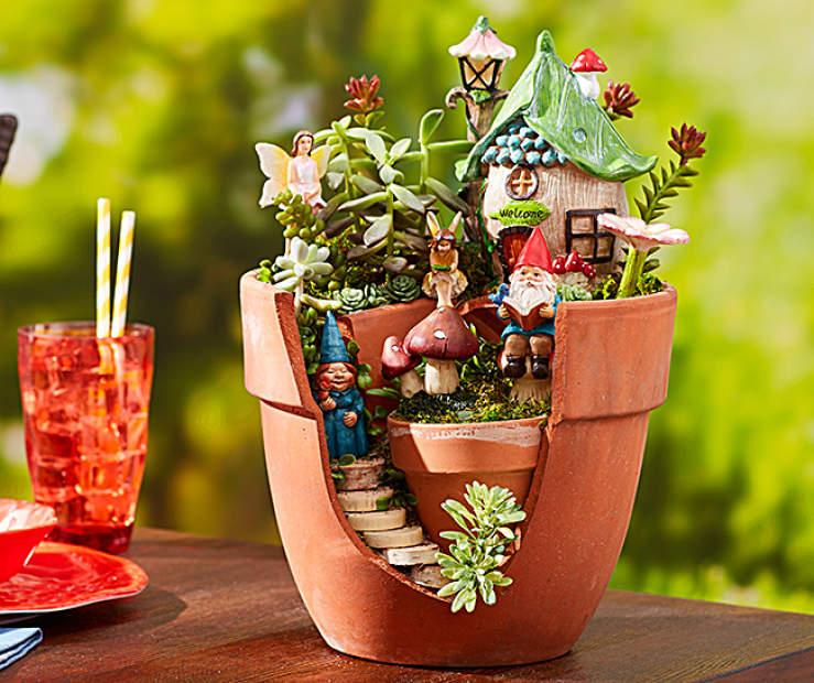 Garden House Beautiful Magazine Inspires Garden Lovers: Fanciful Fairies Planter Fairy Garden Collection