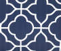 Fandango Navy Blue Quatrefoil Reversible Outdoor Wicker Chair Cushion Quatrefoil Swatch