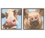 Farm Animals 2 Piece Wall Canvas Set SIlo Front View