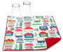 Farmers Market Reversible Dish Drying Mat with Cups Corner Folded Front View Silo Image