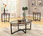 Faux Marble Wood 3-Piece Occasional Table Set