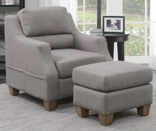 Fawn Gray Accent Chair & Ottoman | Big Lots