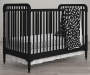 Feathers Black and White Crib and Toddler 4 Piece Bedding Set lifestyle