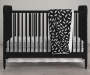 Feathers Black and White Crib and Toddler 4-Piece Bedding Set lifestyle