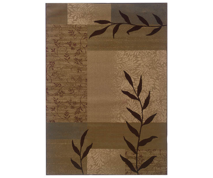 Felice Gold Area Rug 3FT2IN x 5FT5IN  Silo Image