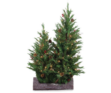 non combo product selling price 1000 original price 1000 list price 1000 10000 winter wonder lane festive log pre lit artificial trees - Mini Pre Lit Christmas Tree
