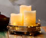 Flameless LED Pillar Candle 3-Piece Set with Light String Lifestyle Image