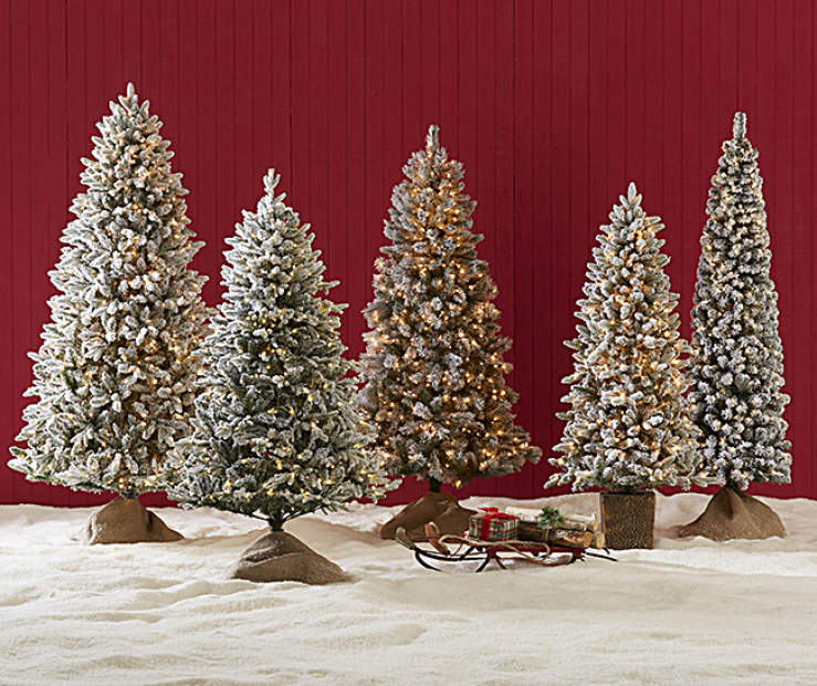 After Christmas Furniture Sales: Flocked Christmas Tree Collection