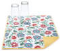 Floral Jacobean Reversible Dish Drying Mat with Cups Corner Folded Front View Silo Image