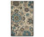 Floral Medallion Accent Rug 2 Feet 6 Inches by 3 Feet 10 Inches Overhead Shot Silo Image