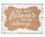 Forever Always Mini Rectangle Box Plaque silo front