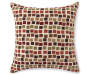 Four Square Harvest Throw Pillow Front Design Silo
