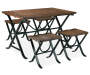 Freimore Brown and Black Dining Set silo front