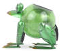 Frog Crackle Glass Solar Light silo side view