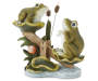Frogs on Seesaw Garden Statuary Silo Front View