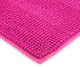 Fuchsia Red Textured Bath Rug, 34 Inches Silo Image Close Up Shot Corner