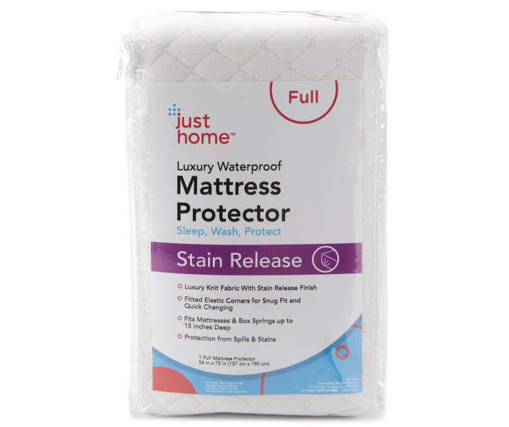 Full Stain Release Luxury Waterproof Mattress Protector Silo in Packaging