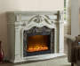 GRAND WHITE FIREPLACE