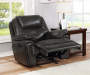 Deals on Granger Dark Gray Faux Leather Glider Recliner