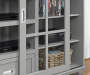 GREY 55IN TV STAND/BUFFET lifestyle close up
