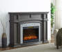 GREY GRAND FIREPLACE