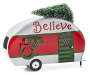 Galvanized Holiday Camper Tabletop Decor silo front