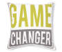 Game Changer Throw Pillow 18 inch x 18 inch silo front