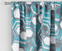 Garrick Aegean Teal Geo Blackout Single Curtain Panel 63 inches Cropped Lifestyle