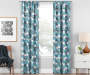 Garrick Aegean Teal Geo Blackout Single Curtain Panel 63 inches Lifestyle