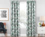 Garrick Mint Geo Blackout Single Curtain Panel 95 inches Lifestyle