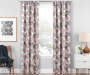 Garrick Pink Geo Blackout Single Curtain Panel 63 inches Lifestyle