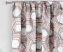 Garrick Pink Geo Blackout Single Curtain Panel 84 inches Cropped Lifestyle