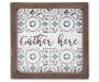 Gather Here Framed Wall Plaque silo front
