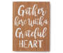 Gather Here Wooden Mini Plaque silo front
