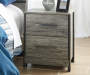 Gazenfeld Black and Gray 2 Drawer Nightstand lifestyle