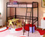 Gemma Black Twin Metal Loft Bed lifestyle bedroom