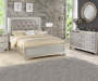 Gemma Platinum Queen Bed Headboard & Footboard, 1 of 2 pieces