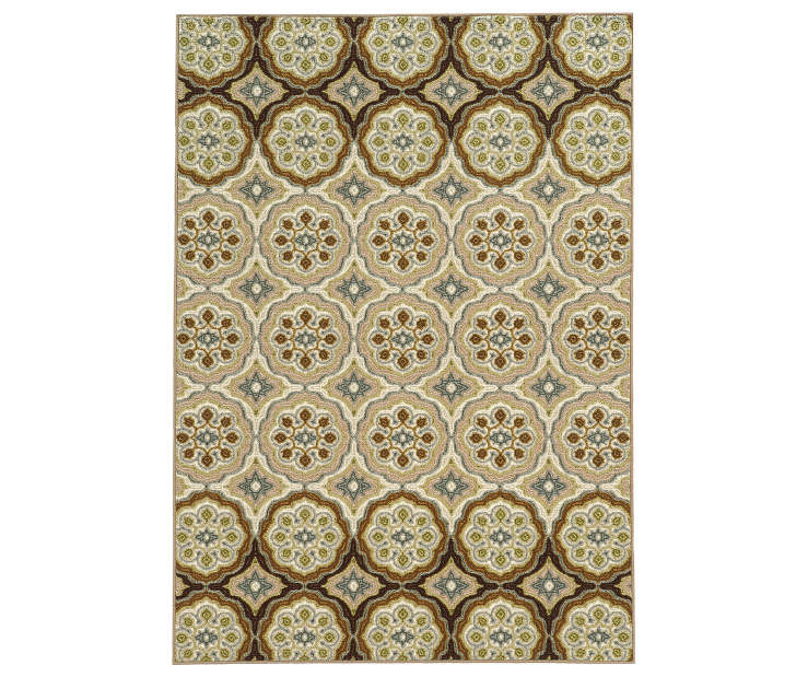 Giddens Ivory Area Rug 3FT3IN x 5FT5IN Silo Image