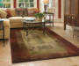 Gilson Red and Tan Area Rug 4 feet x 5 feet 9 inch lifestyle