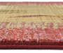 Gilson Red and Tan Area Rug 4 feet x 5 feet 9 inch silo front