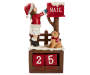 Girl and Dog Christmas Countdown Calendar with number blocks inside cubby front view silo image